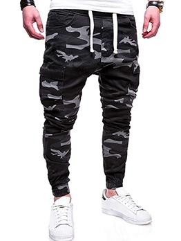 Casual Drawstring Camouflage Jogger Pants