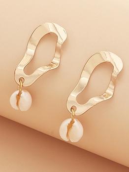 Geometric Shape Shell Bohemian Style Drop Earrings
