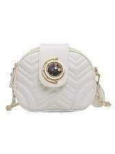 Threaded Design Double Zippers Soldi Shoulder Bags