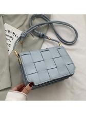 Simple Style Solid Color Woven Versatile Shoulder Bags