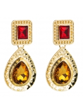 Contracted Water Drop Court Style Retro Earrings