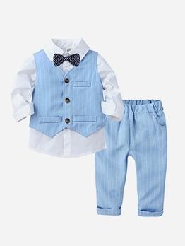 Euro Gray Gentleman's Three Piece Suit For Boys