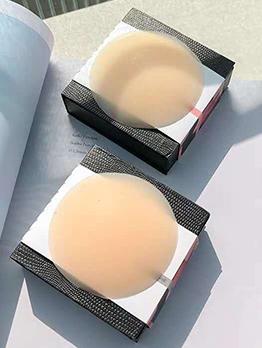 Round Silicone Solid Color Invisible Adhesive Bra