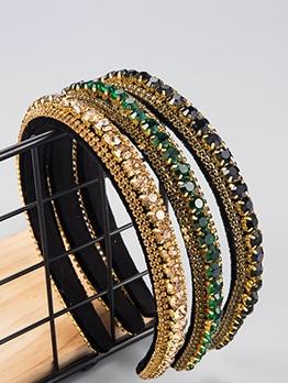 Multi-Layer Rhinestones Pleuche Patchwork Elegant Headband