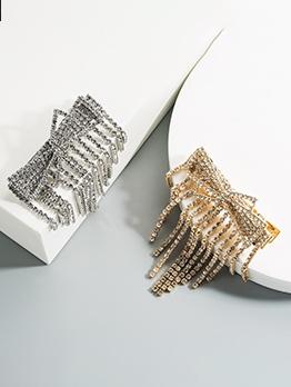 Fashion Rhinestone Bowknot Clip For Women
