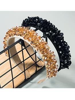 Flannelette Zircon Shiny Hair Band For Women