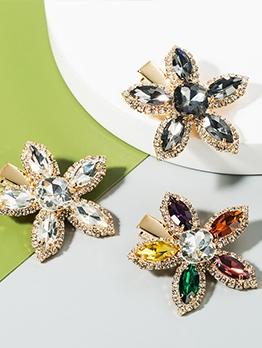 Flower Rhinestone Simple Hair Accessories For Women