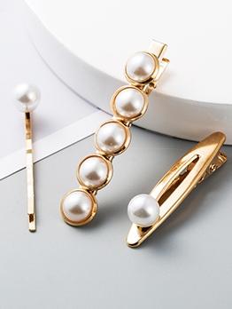 Fashion Easy Match Faux-Pearl Hair Accessories Sets