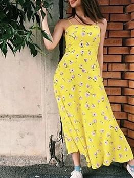 Vacation Style Floral Boho Maxi Dress