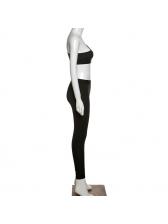 Skinny Tracksuit Set Single Shoulder Strap