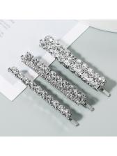 Elegant Solid Rhinestone Three-Piece Hairpin Set