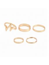 New Style Street Golden Lightning Women Ring