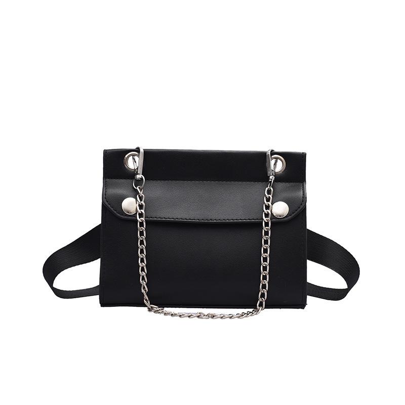 Detachable Chain Solid Color Shoulder Bags For Women