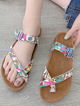 Summer Soft Printed Beach Womens Slippers