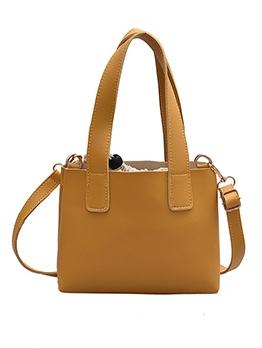 Solid Color Simple Style Drawstring 2 Piece Handbags