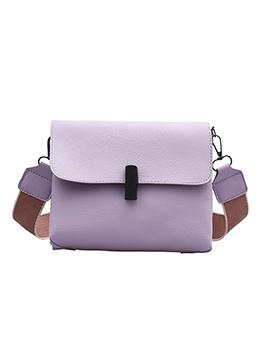 Detachable Wide Belt Solid Color Shoulder Bags