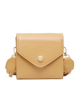 Twist Strap One Hasp Solid Color Shoulder Bags
