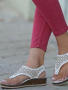 Roman Style Flip Flop Flat Sandals