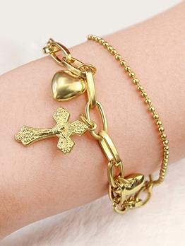 Fashion Retro Crucifix Pendant Bracelet For Women