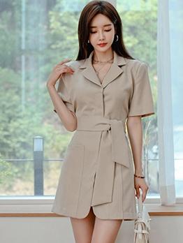 OL Style Short Sleeve Blazer Dress