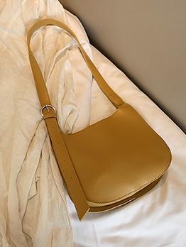 Adjustable Strap Pure Color Simple Shoulder Bags