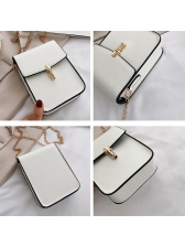 Pure Color Versatile Style Chain Crossbody Phone Bags