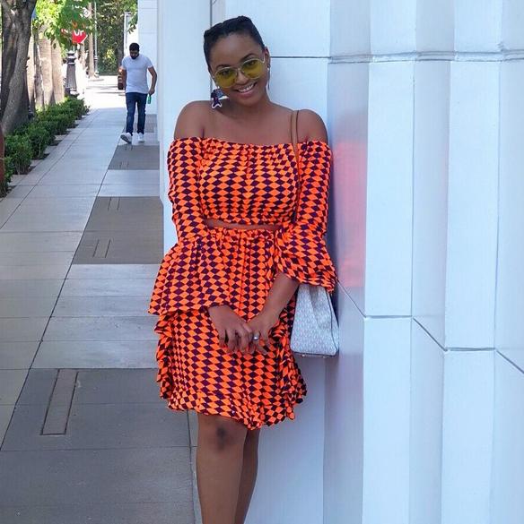 Flare Sleeve Off Shoulder Two Piece Skirt Sets