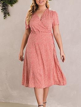 Summer Chiffon Printed Plus Size Dresses