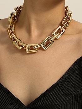 Fashion Hip Hop Street Coarse Chain Women Necklace