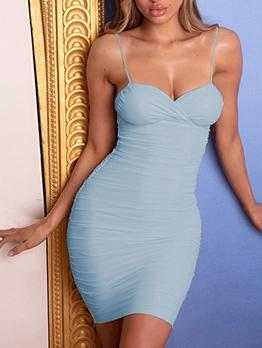 Low Cut Sleeveless Bodycon Mini Dress