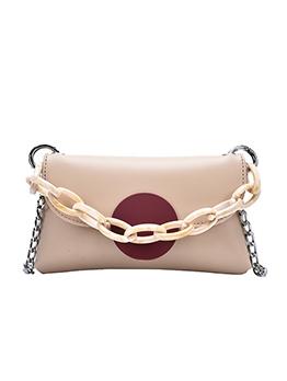 Thick Chain Round Hasp Women Crossbody Bags
