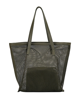 See Through Gauze Simple Shopping Large Tote Bag