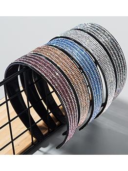 Acrylic Non-Slip Full Tiny Rhinestones Wide Headband