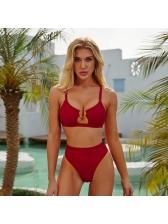 Hot Sale Leopard Print High Waist Swimsuit