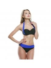 Contrast Color Backless Cheap Swimsuit Women