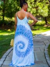 Tie Dye Spaghetti Strap Summer Maxi Dresses