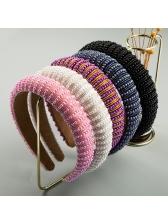 Simple Design Sponge Faux Pearl Wide Hair Hoop