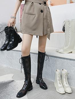 Fashion Gauze Patchwork Cheap Boots