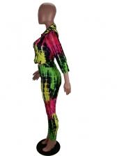 Long Sleeve Shirt Two Piece Print Outfits Women