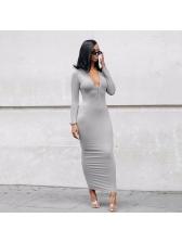 Ankle Length Solid Color Slim Fit Maxi Dresses