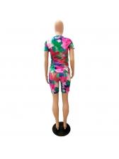 Tie Dye Short Sleeve Two Piece Sets Women