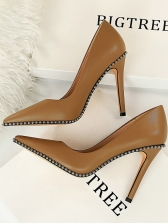 Sexy Pointed Toe Solid High Heel Shoes