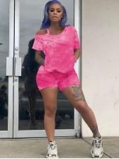 Casual Tie Dye Two Piece Sets Women