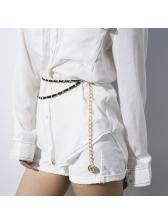 Easy Matching Geometric Layered Clothing Belt For Women