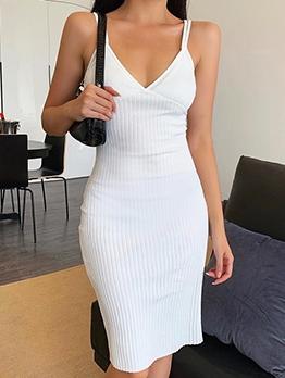 V Neck Camisole Women Bodycon Dress