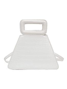 Crocodile Print Trapezoidal Shoulder Bag With Handle