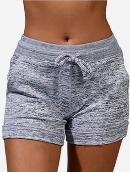 Quick Dry Solid Drawstring Yoga Pants