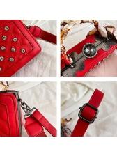 Rhinestone Silk Scarf Handle Wide Belt Shoulder Bags