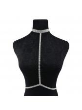 Shiny Rhinestone Body Accessories Linked Women Necklace