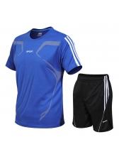 Side Stripe Short Sleeve Mens Activewear
